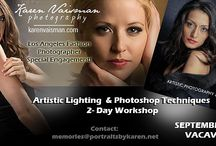 ARTISTIC LIGHTING, POSING & RETOUCHING WORKSHOP - SEPT 14-15  2013  SACRAMENTO CA (VACAVILLE) / 2 Day workshop - Lighting and Posiing 2 exquisite models for glamour and fashion - focusing on artistic lighting, posing and finishing with a full day class on glamour retouching. Located in Vacaville California (Sacramento / Bay Area). If you ever wanted to be hand held to learn the secrets of a 30 year veteran, BFA Syracuse University - come to this special engagement class. Offered one time only! Contact: memories@portraitsbykaren.net Sign up here:  http://tiny.cc/r1uo2w