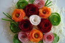 dekoracje warzywne