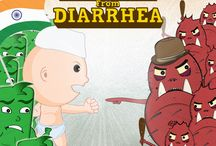 Freedom From Diarrhea / A comic series that shows how Econorm, a children's probiotic, works to treat and defeat diarrhea!