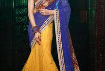 Designer Lehenga Sarees / http://www.sareesbazaar.com/products.aspx?id=251