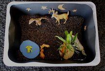 Bacs sensoriels / Sensory bins / Small worlds / Bacs sensoriels pour jeunes enfants