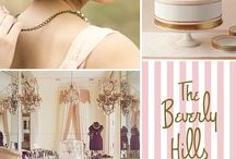 Pink + Antique Gold / Colour scheme inspiration for a romantic wedding