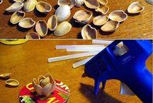 Поделки из семян, орехов и макарон