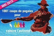1001 coups de pagaie pour Vaincre l'autisme / Les associations «Rêve Océan», «Vis tes rêves, ne rêve pas ta vie» et «Vaincre l'autisme» créent l'événement «1001 coups de pagaies pour Vaincre l'Autisme», un défi sportif, environnemental et solidaire en entreprenant la descente de la Loire en Kayak de mer, de sa source à l'Océan, au profit de l'association Vaincre l'autisme.