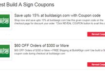 Build a sign discount code