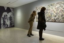 """Alchemy by Jackson Pollock. Discovering the Artist at Work / After an absence of more than a year, and following examination, cleaning and conservation at the Opificio delle Pietre Dure, Florence, """"Alchemy"""" by Jackson Pollock returns to the PGC, focus of a documentary, scientific exhibition, through 6 April 2015."""