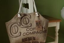 Burlap coffee sacks