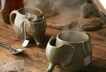 thee (koffie) kopjes