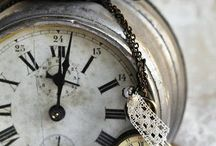 ~ Clocks ~ / Love the old Brocante, a bit weathered, clocks.