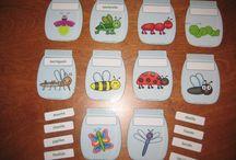 Тема Весна Насекомые / Обучающие карточки,идеи игр,сенсорные коробки,рабочие листы / by Алиса