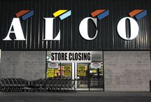 "ALCO Duckwall 1901- 2015 / ALCO Duckwall- 1901 2015. On October 12, 2014, ALCO Stores Inc. filed for Chapter 11 bankruptcy citing ""increased competition"" and ""declining consumer and business confidence. Going out of Business sales at all locations started on November 21, 2014. Goodbye to an EPIC Company. #EpicLiquidation"