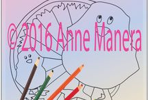 Coloring Pages | Anne Manera / Single Coloring Pages by Anne Manera www.annemanera.com