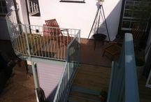 Balcony and balcony railings