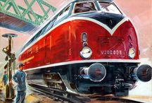 Marklin Train Poster