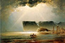Peder Balke (1804 - 1887) / Norwegian painter who portrays the landscape of Norway in a romantic and dramatic way.