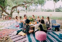 Mexican bohemian party decor