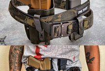 Guns and equipment