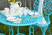 Outdoor furniture painting