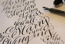 Lettering, Tipografía, Caligrafía.