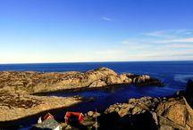 Kap Lindesnes / Südkap Norwegen / Lindesnes Fyr / Der Lindesnes Fyr, südlichster und ältester Leuchtturm von Norwegen, am südlichsten Punkt Norwegens (Südkap / Kap Lindesnes) -------   Lindesnes Fyr, the most southern lighthouse of Norway at the country's most southern point (Cape Lindesnes / South Cape)