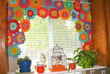 Horgolt függönyök- Crochet Curtains / Függönyök másképp- újra nagy divat a horgolt függöny!