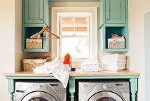 laundry nook ideas / by Lindsay @ Hello Hue