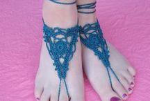 barefoot sandal crochet