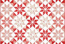 Red and White Embroidery Quilt Layouts