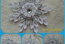 śnieżynki i kwiatki