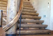Grand Staircases & Railing Ideas / by Natural Element Homes