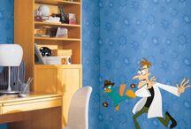 Papel de colgadura para habitaciones de niños / Papel de colgadura para habitaciones de niños
