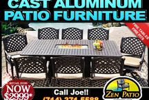 Patio Furniture Ideas for the House / Cast Aluminum Patio furniture ideas for garden or outdoor living.