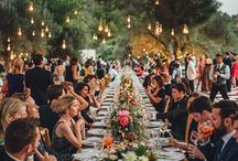 Long tables wedding - Mesas largas en bodas