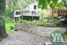 Retaining Walls / Give your landscaping a stunning finish with these beautiful retaining wall ideas.