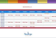 Yoga Class Schedule - Dubai