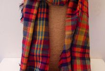 Tartan Scarves ♥️ / Chunky tartan scarves in a range of colours ♥️