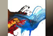 poured paint / by Maryann  Carine Rosenblatt