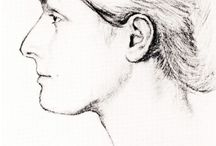 Art/Illustration - The Face in Profile / Illustrated examples of the face in profile. / by Daniel Reedy