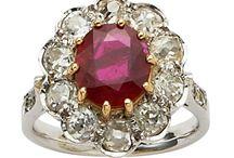 Ruby vintage and modern rings