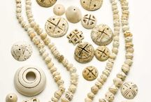 Ivory, Coral, Shells etc. Beads