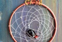My dreamcatchers / These are all the handcrafted dreamcatchers I have made :)