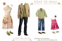 Photography - What to Wear / What to wear for photo sessions.