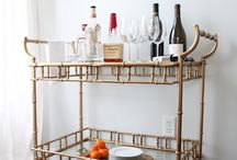 Top Shelf Bar Carts & Home Bars / Display your wine and liquors in style with these pretty and practical, fab and fun bar carts and home bars.