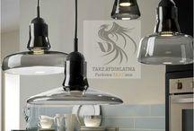 Sign Füme Cam Sarkıt Aydınlatma / Modern ve dekoratif aydınlatma modelleri
