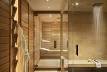Interiors\\ Steam room / sauna / bathroom