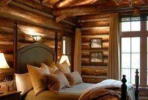 Деревянный дом спальни