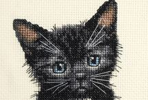 punto de cruz (gatos)