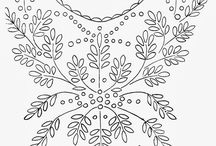 embroidery patterns. neck designs.