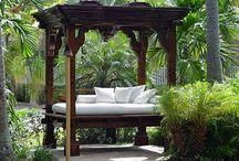 decoracion jardin de hotel / Diseño, producción y fabricación exclusiva y ecológica por www.comprarenbali.com