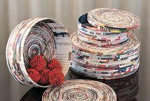 Cannucce di carta - Paper straws / Idee per riciclare le riviste realizzando cannucce di carta *** Sezioni interne: Gabbiette - Fari - Natale - Pasqua